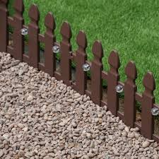 Pack Of 4 Solar Powered Picket Fence Lawn Edging By Smart Garden 14 99