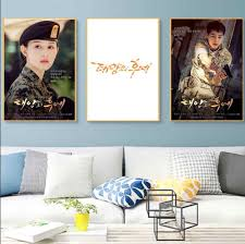 Ji Won Kim Descendants Of The Sun Korea Tv Vintage Retro Cool Poster Canvas Painting Diy Wall Stickers Home Posters Art Decor Wall Sticker Stickers Homewall Stickers Home Aliexpress