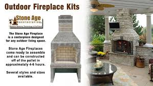 outdoor fireplace kit by stone age