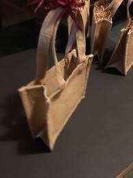 small jute hessian hemp bag gift bag