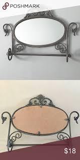 scroll metallic pewter wall mirror