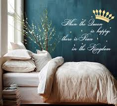 Wall Decal Quote When The Queen Is Happy There Is Peace In The Etsy