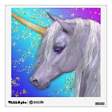 The Magical Unicorn Wall Decal Zazzle Com