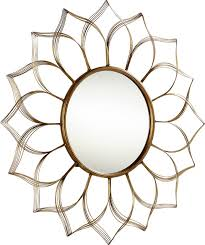 blooming beauty wall mirror in aged