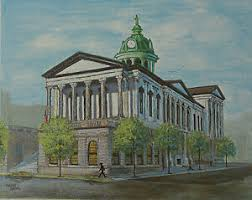 Vintage 1976 Madge Smith County Court House Lancaster PA Litho ...