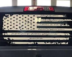 Distressed Pledge Flag Vinyl Decal Usa American Flag Decal Pledge Of Allegiance Truck Back Window Flag Truck Accessories Truck Lettering Vintage Trucks