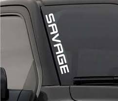Product Savage Windshield Sticker Vinyl Window Decal Lifted Truck Coal Roller For F150