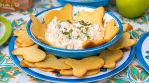 Cold Crab Dip with Fish Crackers ...
