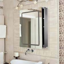 bathroom mirror cabinet with led light