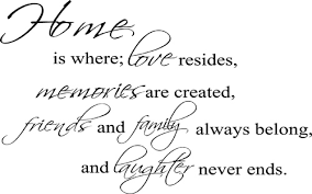 Home Is Where Friends Family Wall Decals Trading Phrases