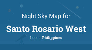 Night Sky Map & Planets Visible Tonight in Santo Rosario West