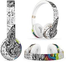 Amazon Com Masibloom Protective Headset Decal Sticker For Beats Solo 3 Wireless Solo 2 Wireless On Ear Headphones Creative Cover Skin For Solo 2 3 Wireless Brain Computers Accessories