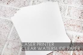 Set Of 10 Clear Waterslide Decal Paper Sheets For Laser Etsy Waterslide Decal Paper Decal Paper Waterslide Paper