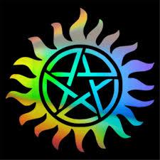 Supernatural Anti Possession Pentagram Car Window Sticker Vinyl Decal Funny Car Stickers Aliexpress