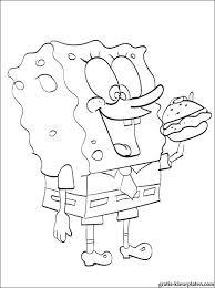 Spongebob Met Hamburger Kleurplaat Gratis Kleurplaten