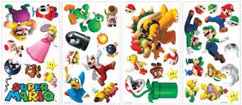 Roommates 675scs Nintendo New Super Mario Wii Peel And Stick Wall Decals Coconuas45