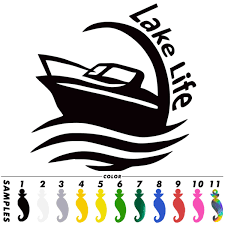 Lake Life Vinyl Decal For Laptop Windows Wall Car Boat