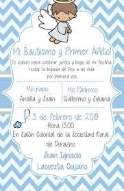 Invitacion Para Bautizo Y Cumpleanos Juntos Onlogdepo