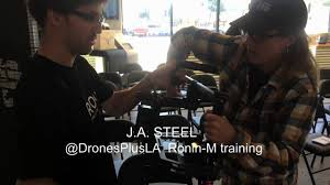 J.A. Steel training on the DJI Ronin-M at Drones Plus LA - YouTube