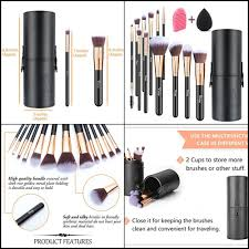 plete makeup brush set and their uses