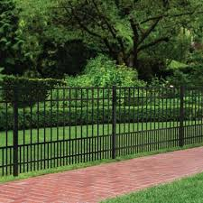 Ironcraft Actual 5 Ft X 6 Ft Chatham Chatham Black Powder Coated Aluminum Flat Top Decorative Metal Fence Panel Lowes Com Fence Styles Metal Fence Panels Metal Fence