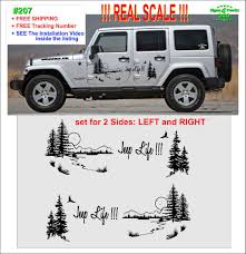 207 Jeep Life Vinyl Decal Graphic Side Wrangler Rubicon Sahara Jk Jku Tj Oracal651 Jeep Wrangler Unlimited Accessories Jeep Life Vinyl Decals
