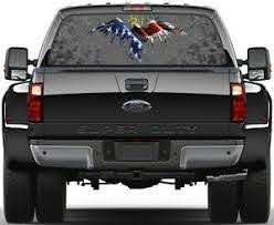 Eagel Usa Flag Vulture Patriotic Rear Window Graphic Decal Truck Suv Ebay