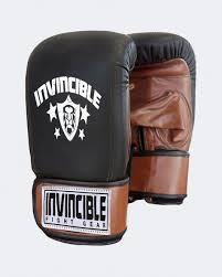 invincible pro bag gloves leather