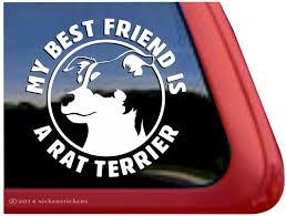 Rat Terrier Dad Dog Decals Stickers Nickerstickers