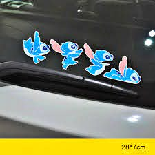 Aliauto Car Decoration Cartoon Stitch Sticker Cover Scratches Decal For Hyundai Accent I30 I35 Santa Fe Solaris Elantra Parts Car Stickers Aliexpress