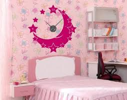 Moon Stars Wall Decal Clock Style And Apply