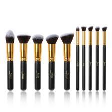 10pcs pro oval makeup brushes set