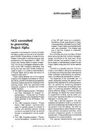 NCE committed to promoting Project Alpha