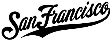 San Francisco Giants Script Die Cut Vinyl Graphic Decal Sticker Mlb