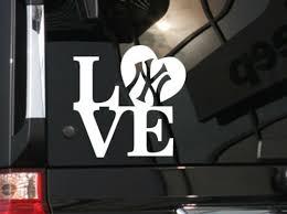 I Love New York Yankees Baseball Vinyl Car Decal Sticker 5 5 W Rainbowlands Lk