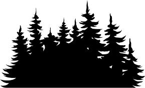 Treeline Silhouette Tree Wall Sticker Tenstickers