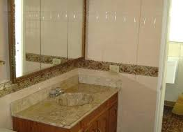 black white and brown bathroom