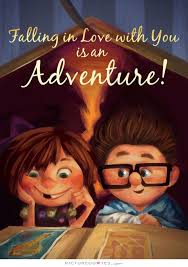falling in love you is an adventure love quotes on