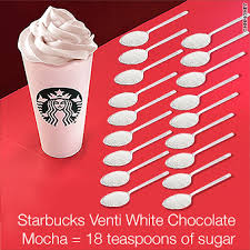 your starbucks drink may have 25 spoons