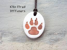 dog paw essential oil diffuser clay