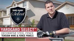 Yard Gard Select Step 3 Fence Panel Installation Youtube