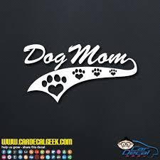 Awesome Dog Mom Athletic Car Truck Window Decal Sticker