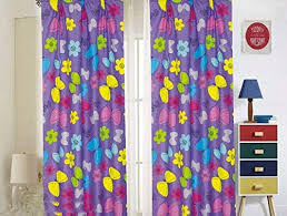 Amazon Com Kids Girls Window Curtain Panels With Tiebacks 4 Piece Set Butterfly Purple Lilac Print Window Curtain For Girls Kids Girls Kids Teens Room Decor Butterfly Lilac Curtain Kitchen Dining