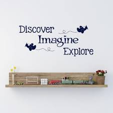 Discover Imagine Explore Wall Decal Create Ship