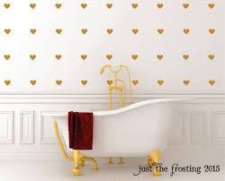 Gold Heart Wall Decals Shaped For Living Room Mirror Design Red Pink White Peel And Stick Vinyl Vamosrayos