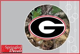 Georgia Bulldogs G Logo On Camo Circle 6 Vinyl Decal Uga Car Truck Sticker Fire Fly Camo