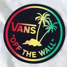 Vans Off The Wall Logo Sticker Australia Vinyl Decal Pack Design Big Large History Ebay Vamosrayos