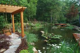 outdoor dazzling koi ponds design for