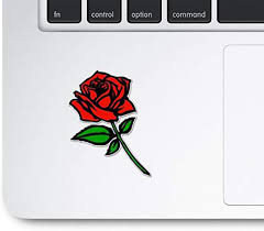 Amazon Com Hight Qualtiy Red Rose Trackpad Decal Red Rose Macbook Pro Decal Notebook Laptop Ipad Pro Ipad Car Truck Van Decal Sticker Computers Accessories