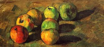 Still life with seven apples - Cezanne Paul